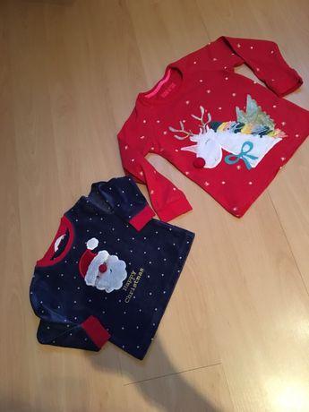 bluzki  świąteczne 110cm ,80cm