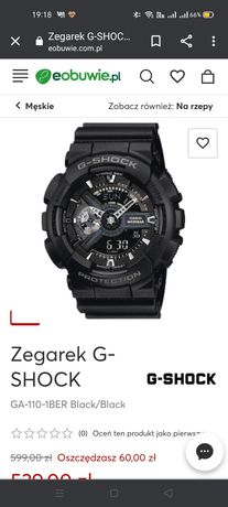 Sprzedam zegarek casio g-shock ga 110