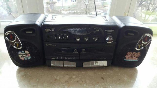 Магнитола двухкассетнная кассетная 5+