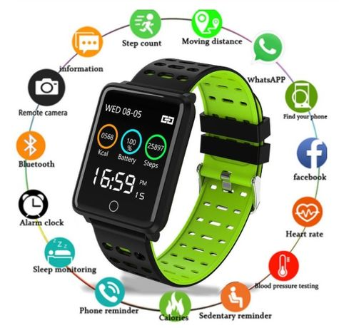 SmartWatch F3 | Pulseira desportiva Fitness | Smartphone iOS Android