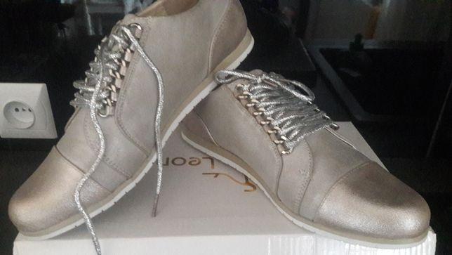 Nowe.Buty srebrne