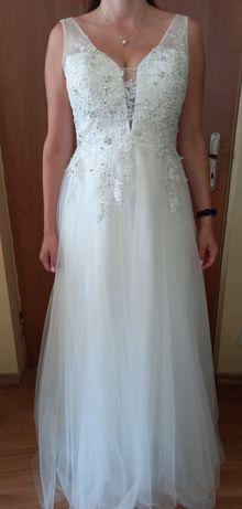 Piękna suknia ślubna r. 42