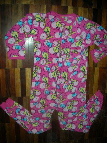 Флисовая пижама-комбинезон