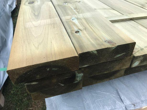 Drewno konstrukcyjneC24 , 45x145mm impregnowana .