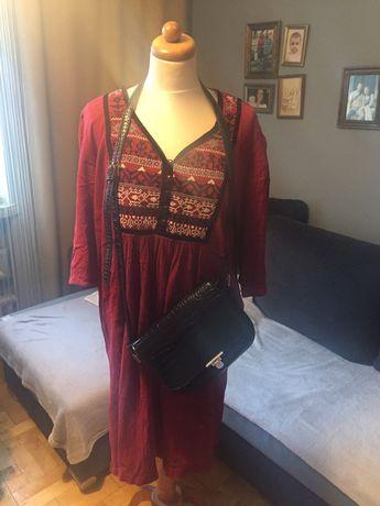 Przepiękna suknia wyszywana haft folk