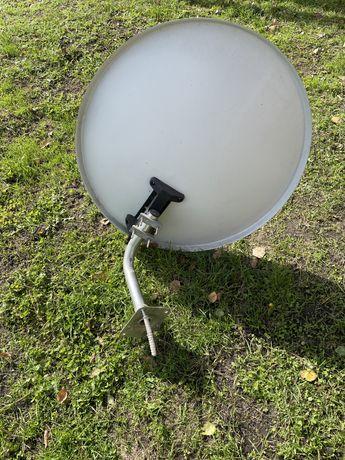 Antena satelitarna 80 z uchwytem i konwenterem podwójnym