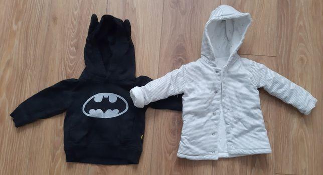 Bluza Batman 80cm i kurteczka dwustronna z Kubusiem Puchatkiem 62-68cm