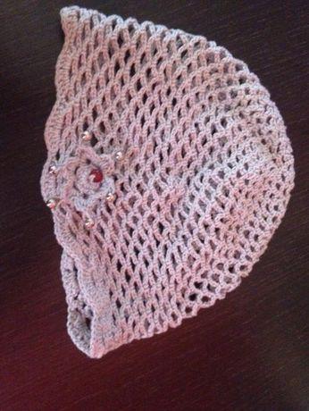 czapka na szydełku robiona