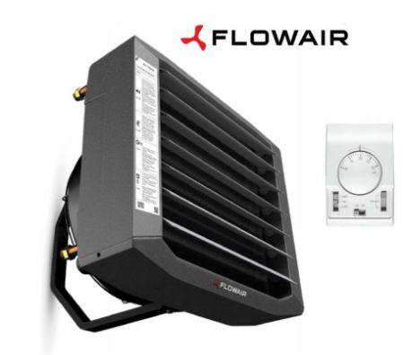 Nagrzewnica wodna FLOWAIR LEO S2 27 kW 3w1 magazyn hala warsztat garaż