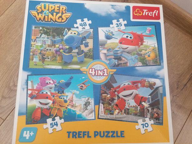 Puzzle super wings samolotu 35,48, 54,70 elementów 4+
