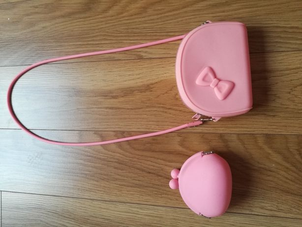 Silikonowa torebka z portfelem dla dziewczynki
