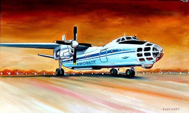Новое, оформление, дизайн Картины авиации художника, масло, холст, 3D