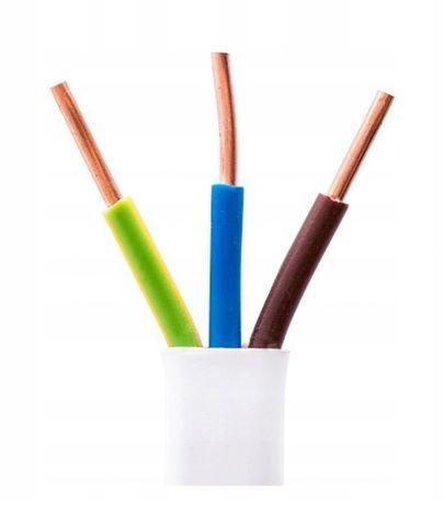 Przewód kabel drut płaski YDYp 3x1,5 750V POLSKI PRODUCENT Nowy