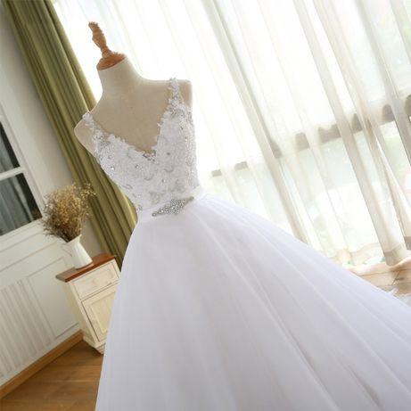 suknia ślubna princessa wiązana 44 XXL