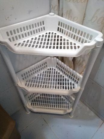 Regał narożny plastikowy 3 półki