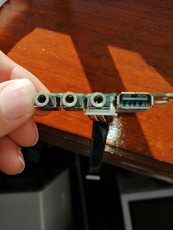 Placa de som e USB portátil