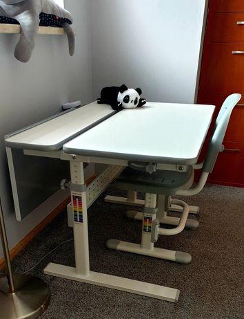 Regulowane biurko dla dziecka FUNDESK COLORE GREY + krzesło