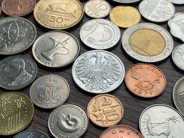 Монеты мира оптом — 96 штук