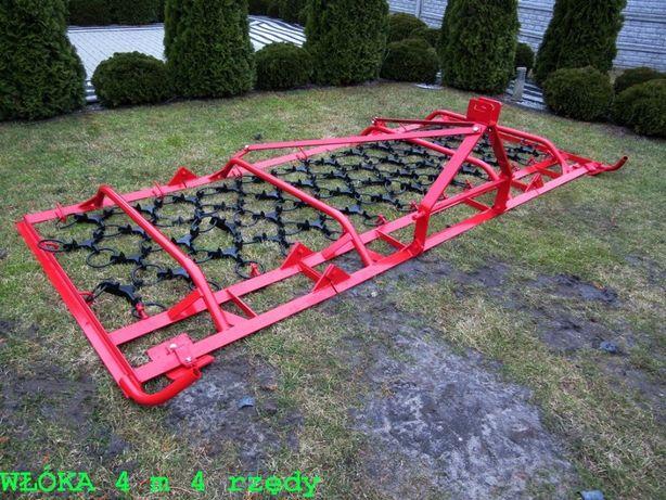 WŁÓKA łąkowo-polowa 3 m 3 rzędy włóki brony do łąk Dostawa Raty