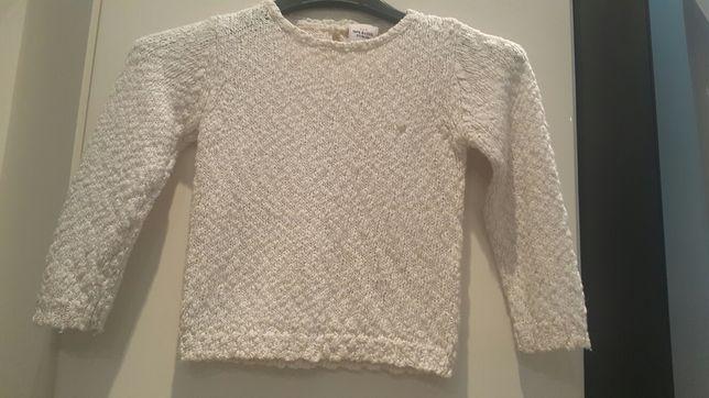 Sweter ecru ze złota nitka rozmiar 86 Tape A L'oeil