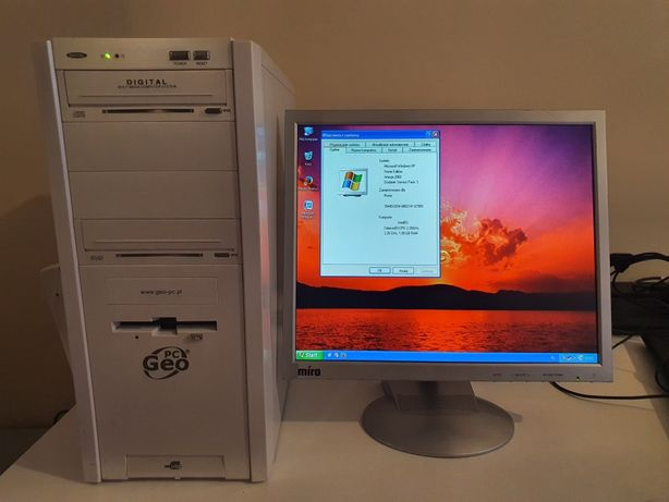 Komputer + Monitor + Klawiatura + Myszka + Wszystkie kable = Ful Opcja