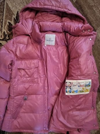 Куртка пуховик Moncler женская новая, розовая