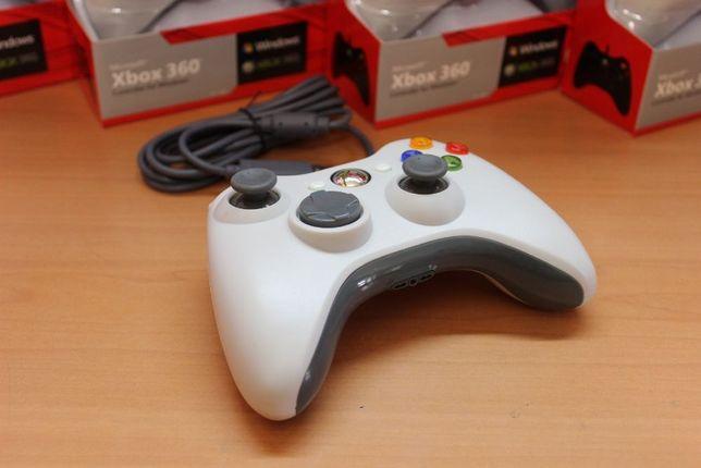 Xbox 360 Gamepad проводной, джойстик для ПК Windows белый