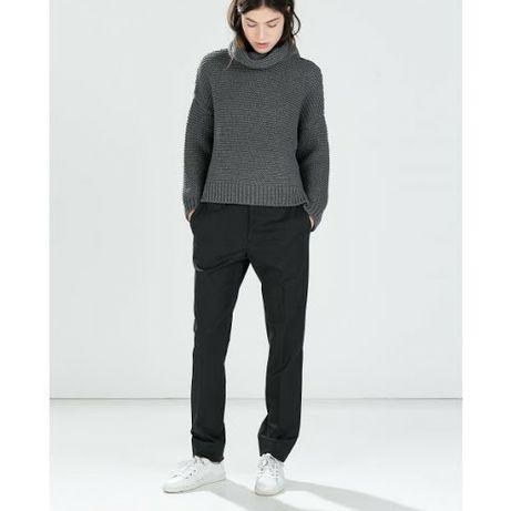 Zara sweter szary golf S