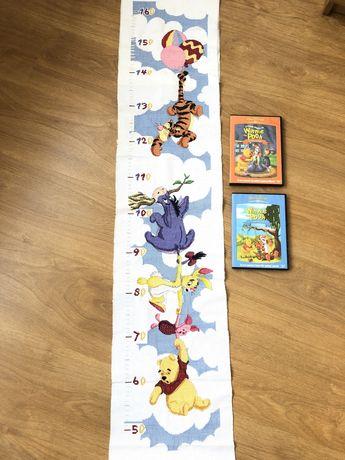 Winnie the Pooh fita metrica ponto cruz com oferta 2 dvd