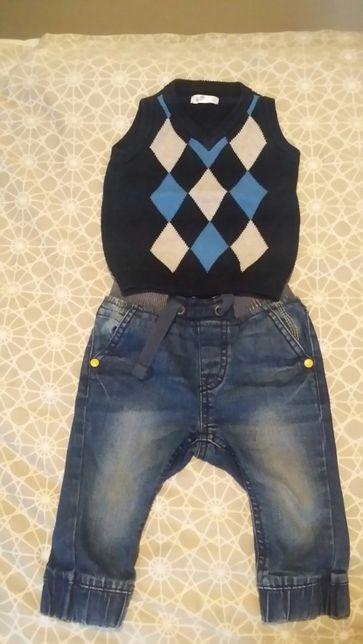 Komplet spodnie kamizelka 68/74 cm
