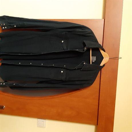 Koszula Big Star, jeans. Długi rękaw, zatrzaski i kieszenie.