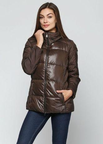 Пуховик Geox, куртка дутая зимняя, натуральный пух, р.M-L