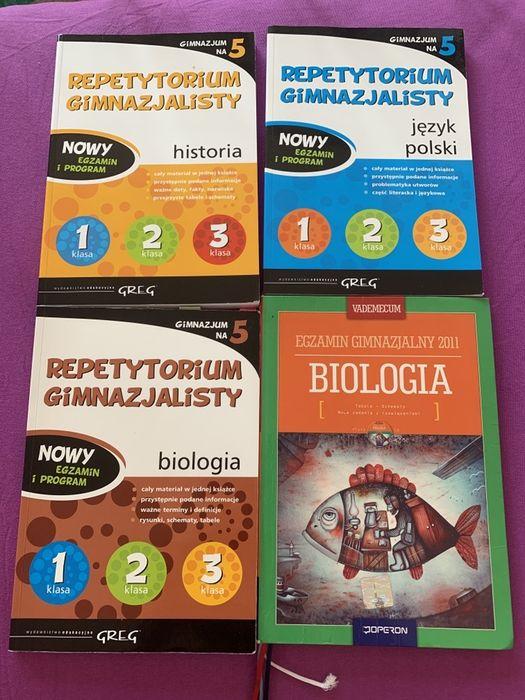 Repetytorium gimnazjalisty pokski historia biologia stan bardzo dobry Częstochowa - image 1