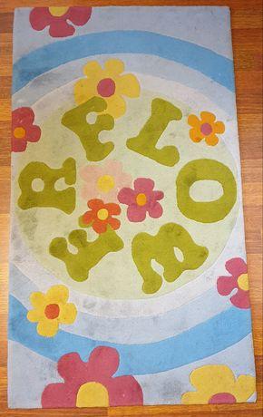 Dywan FLOWER kolorowy do pokoju dziewczynki
