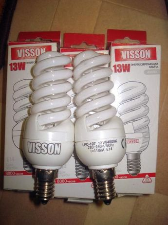 Энергосберегающие лампы на е14 цоколь поштучно.