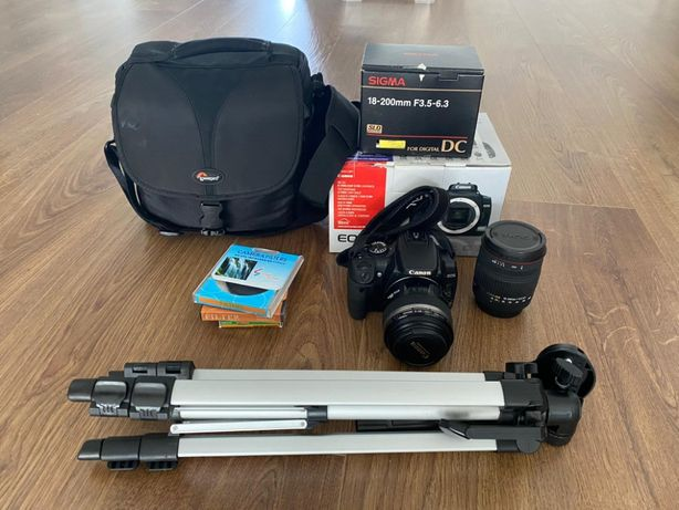 Canon 400D + Objectivas Sigma 18-200 e Canon 60mm Macro