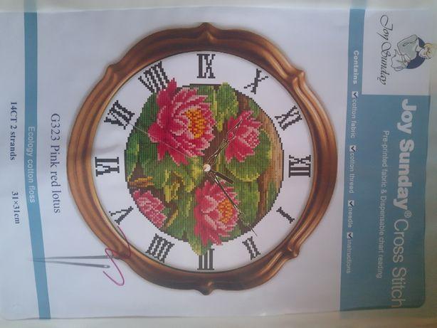 Новый набор для вышивки крестом с нанесенной схемой от Joy sunday.Часы