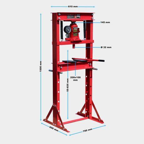 Prensa hidráulica 20 toneladas com manómetro -NOVA