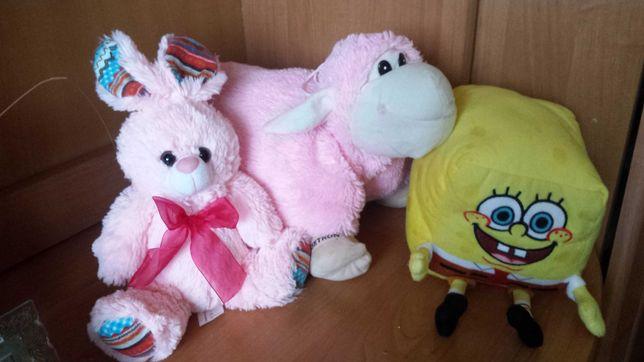 Sponge Bob,króliczek, owieczka poduszka