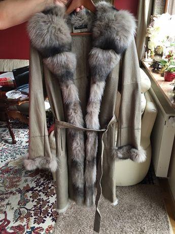 Futro długie futerko kożuszek długi skóra królik 100%