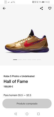 Nike Kobe 5 Protro X Undefeated Hall of Fame