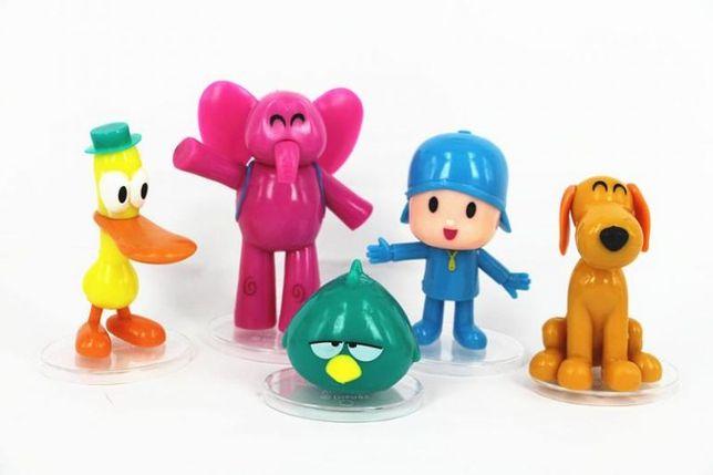 LU128 5 Miniaturas Pocoyo Zinkia 5-8cm Bonecos Criança