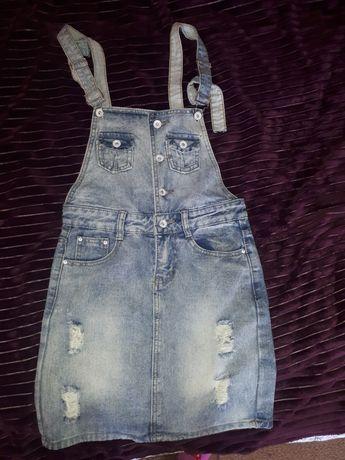 Комбінезон джинсовий жіночий
