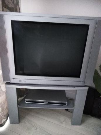 Telewizor, szafka, odtwarzacz dvd