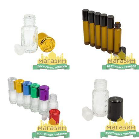 Флаконы стеклянные для масляных духов тара 3-12мл
