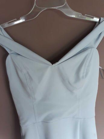 Długa sukienka M/S jasno szara