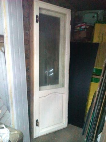 Балконна дверь деревянная
