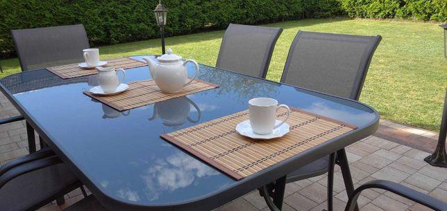 NOWY Zestaw mebli ogrodowych: Duży stół,6 krzesel
