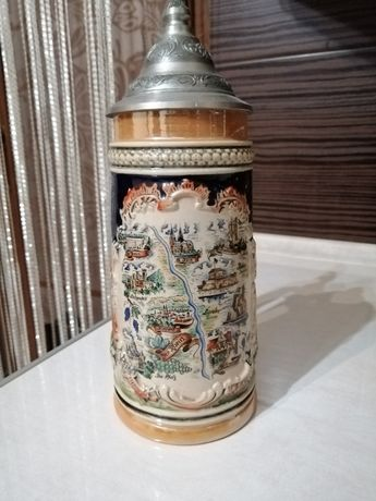 Kufel kolekcjonerski, ceramiczny 23 cm