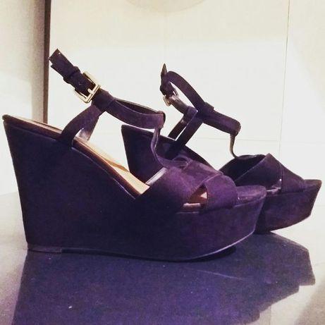 Sandálias Pretas Camurça (Zara) - usadas 2 vezes